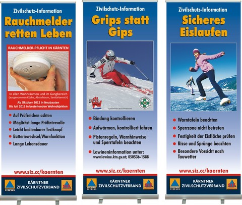 Roll-Up (3er) © Zivilschutzverband